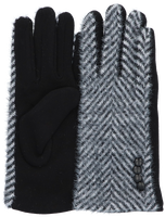 Schwarze Yehwang Handschuhe PATTERN  - medium