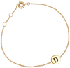 Goldfarbene ALLTHELUCKINTHEWORLD Armband CHARACTER BRACELET LETTER GOLD - small