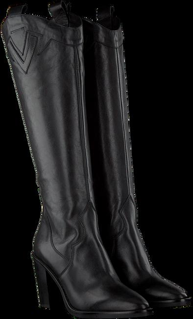 Schwarze JANET & JANET Hohe Stiefel 46453  - large