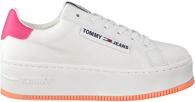 Weiße TOMMY HILFIGER Sneaker low OVERSIZED LABEL ICON  - large
