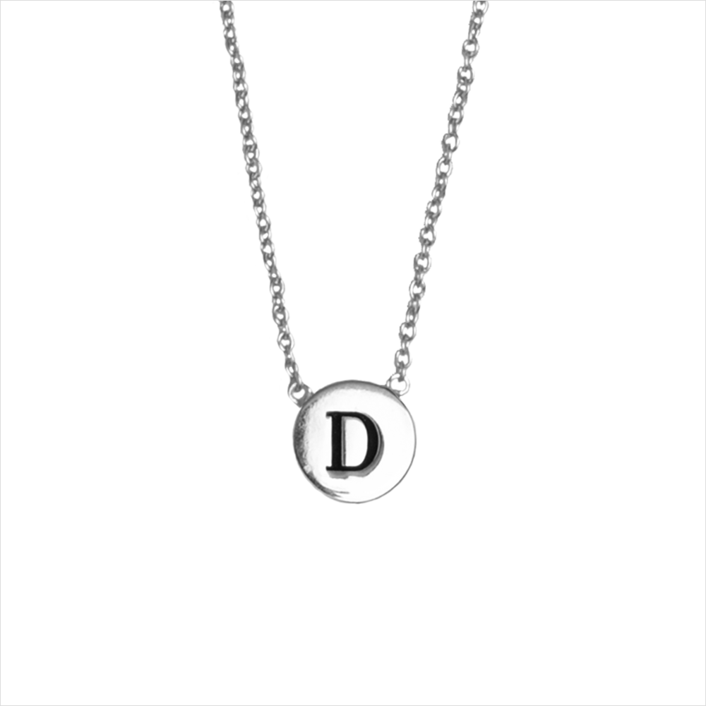 Silberne ALLTHELUCKINTHEWORLD Kette CHARACTER NECKLACE LETTER SILV CPNJB