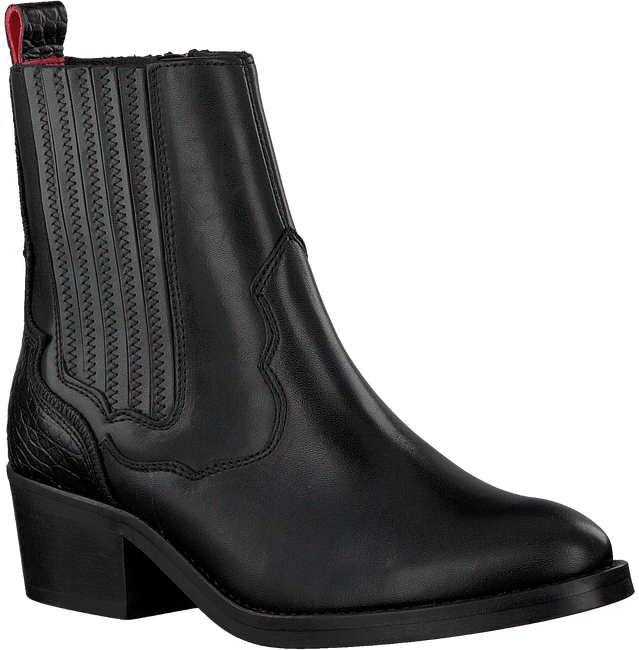 Schwarze HABOOB Ankle Boots P6731  - large