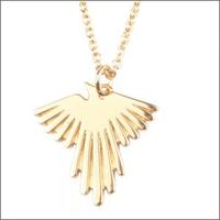 Goldfarbene ALLTHELUCKINTHEWORLD Kette SOUVENIR NECKLACE EAGLE - medium