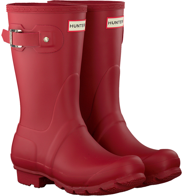 Rote HUNTER Gummistiefel WOMENS ORIGINAL SHORT - large