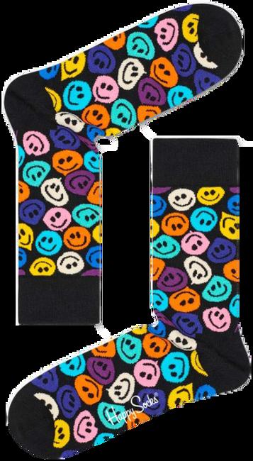 Schwarze HAPPY SOCKS Socken TWISTED SMILE  - large