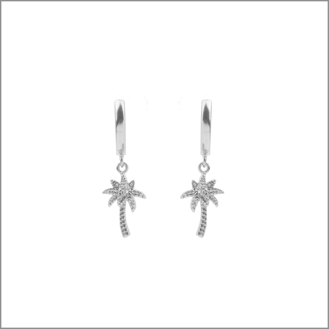 Silberne ALLTHELUCKINTHEWORLD Ohrringe SOUVENIR EARRINGS PALM TREE - large