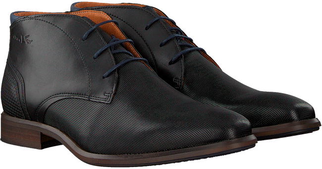 Schwarze VAN LIER Business Schuhe 1951701  - large