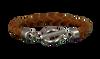 Cognacfarbene LEGEND Armband ARMBAND GEVLOCHTEN ENKEL - small