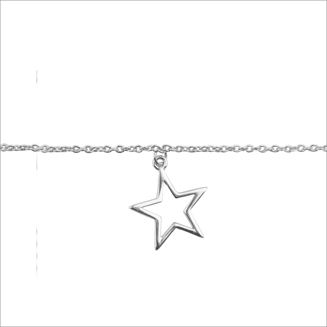Silberne ALLTHELUCKINTHEWORLD Armband SOUVENIR BRACELET STAR - large