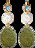 Grüne JEWELLERY BY SOPHIE Ohrringe WONDER GOLD - small