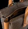 Braune MICHAEL KORS Handtasche ROLLINS LG SATCHEL  - small