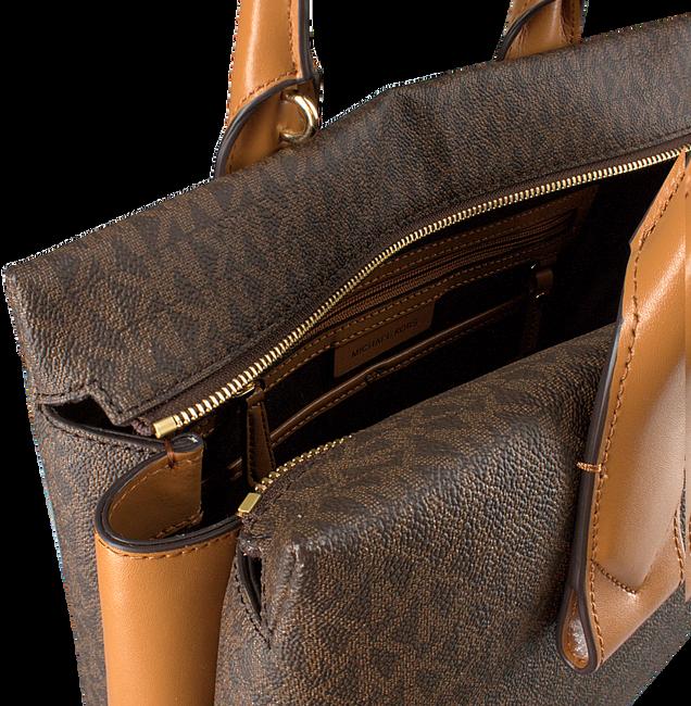 Braune MICHAEL KORS Handtasche ROLLINS LG SATCHEL  - large