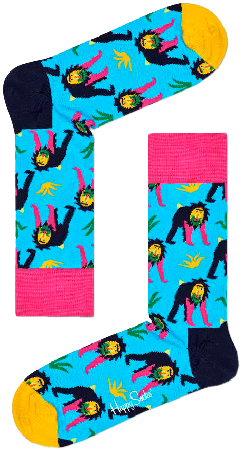 Blaue HAPPY SOCKS Socken MONKEY jDe1F
