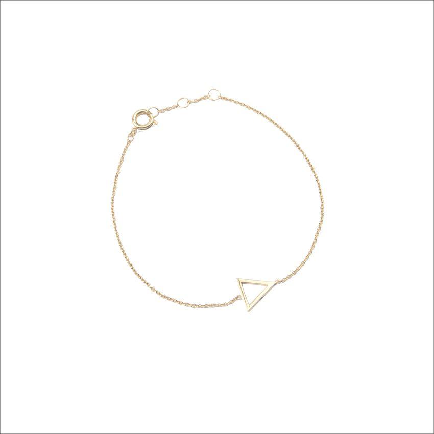 Goldfarbene ALLTHELUCKINTHEWORLD Armband SOUVENIR BRACELET OPEN TRIANGL - larger