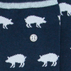 Blaue Alfredo Gonzales Socken BIG STRIPES  - small