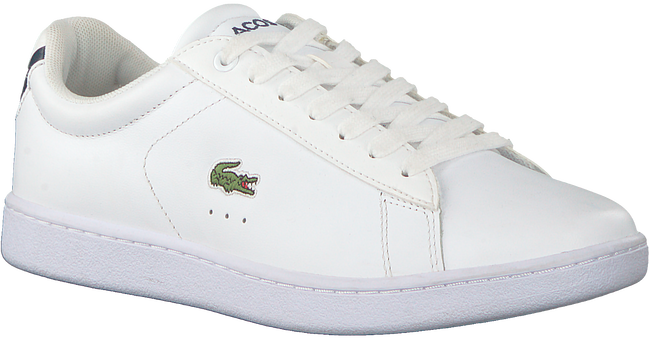 Weiße LACOSTE Sneaker CARNABY EVO DAMES  - large