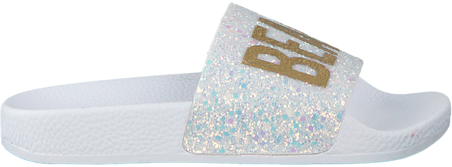 Weiße THE WHITE BRAND Pantolette GLITTER BEACH KIDS - large