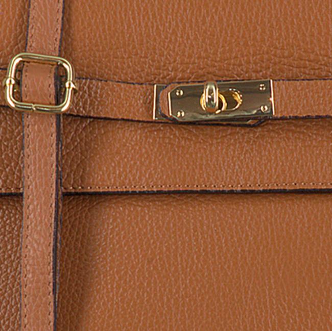 Cognacfarbene NOTRE-V Handtasche BENTE  - large