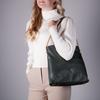 Schwarze GUESS Handtasche DESTINY HOBO  - small
