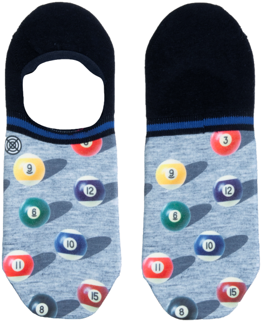 Mehrfarbige/Bunte XPOOOS Socken SNOOKER INVISIBLE  - large