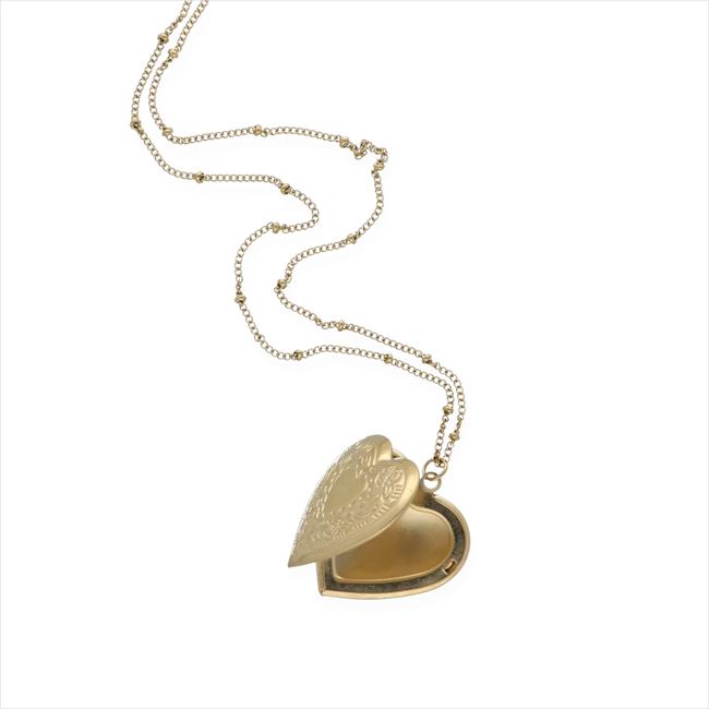 Goldfarbene NOTRE-V Kette KETTING MET HART  - large