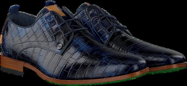 Blaue REHAB Business Schuhe GREG CROCO  - large