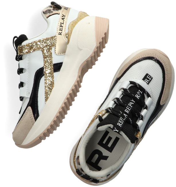 Weiße REPLAY Sneaker low FLYS  - large