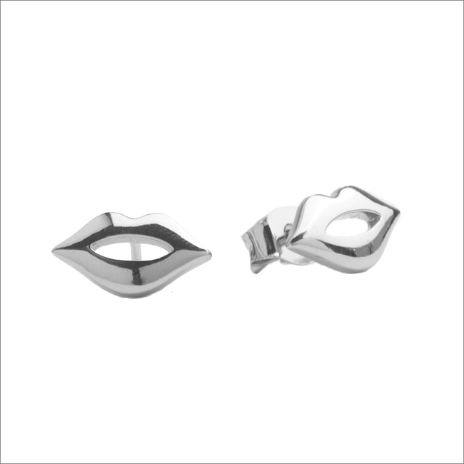 Silberne ALLTHELUCKINTHEWORLD Ohrringe PARADE EARRINGS LIPS - large