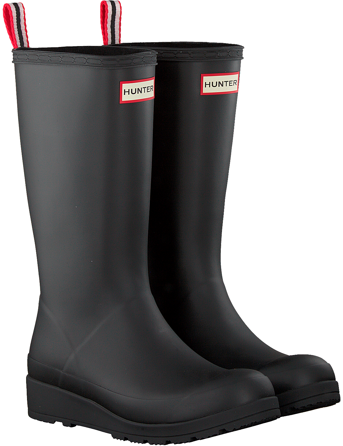 newest 49271 1e56d Schwarze HUNTER Gummistiefel PLAY BOOT TALL