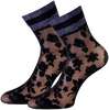 Schwarze MARCMARCS Socken PIZZO FLOWER  - small