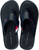 Blaue TOMMY HILFIGER Pantolette ELEVATED LEATHER BEACH  - small