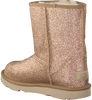 Goldfarbene UGG Ankle Boots CLASSIC SHORT II GLITTER - small