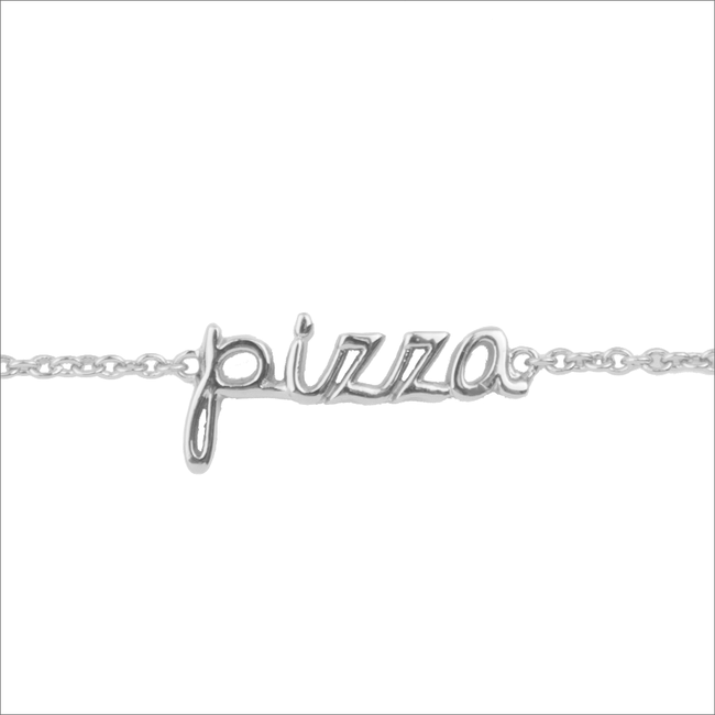 Silberne ALLTHELUCKINTHEWORLD Armband URBAN BRACELET PIZZA - large
