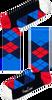 Blaue HAPPY SOCKS Socken ARGYLE - small