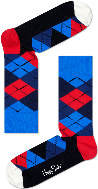 Blaue HAPPY SOCKS Socken ARGYLE - large