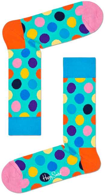Grüne HAPPY SOCKS Socken BIG DOT  - large