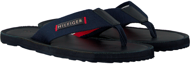 Blaue TOMMY HILFIGER Pantolette ELEVATED LEATHER BEACH  - large
