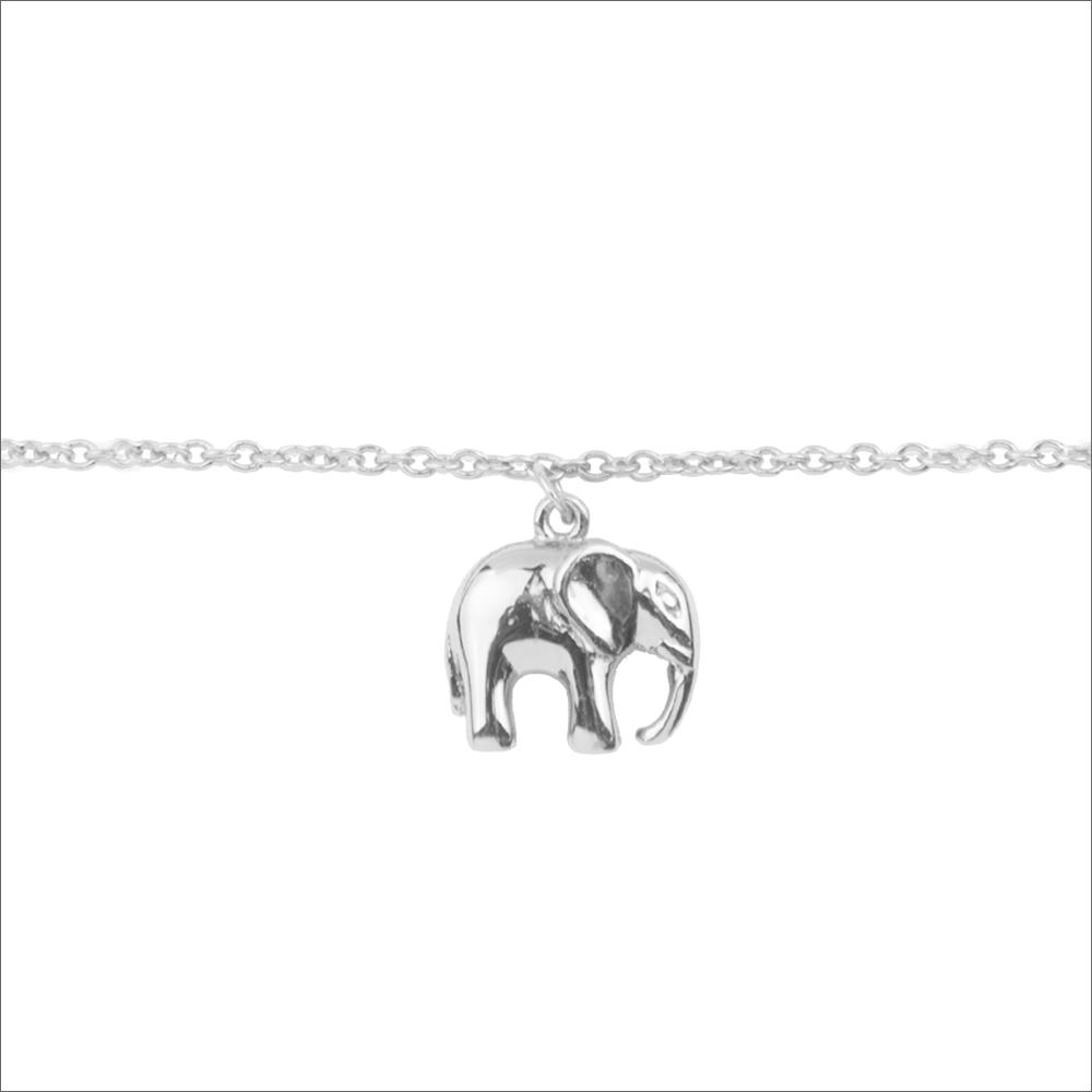 Silberne ALLTHELUCKINTHEWORLD Armband SOUVENIR BRACELET ELEPHANT N58iY