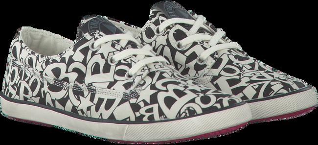 Weiße BRAQEEZ Sneaker PRINT BLACK/WHITE - large