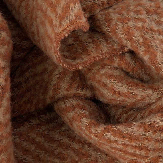 Orangene Yehwang Schal WINTER ZIGZAG  - large