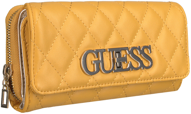 Gelbe GUESS Portemonnaie SWEET CANDY SLG LRG CLTCH ORG  - large