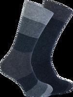 Blaue MARCMARCS Socken FERRY COTTON 2-PACK  - medium