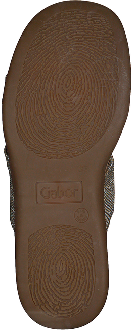 Silberne GABOR Pantoletten 703 - large
