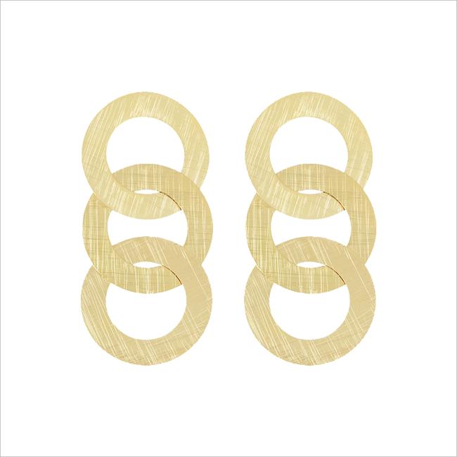 Goldfarbene MY JEWELLERY Ohrringe MJ01533  - large