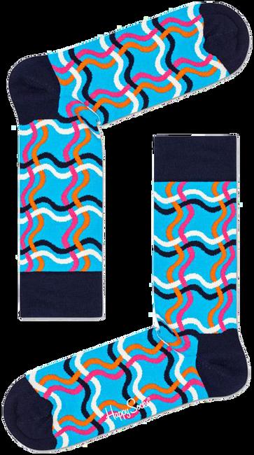 Schwarze HAPPY SOCKS Socken SQUIGGLY SOCK  - large