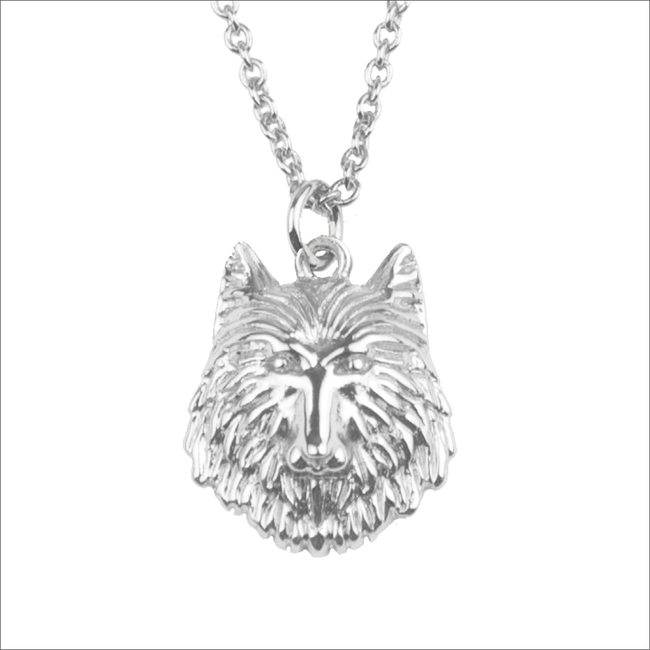 Silberne ALLTHELUCKINTHEWORLD Kette SOUVENIR NECKLACE WOLF - large