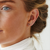 Silberne ALLTHELUCKINTHEWORLD Ohrringe PETITE EARRINGS MINI STRIP - small