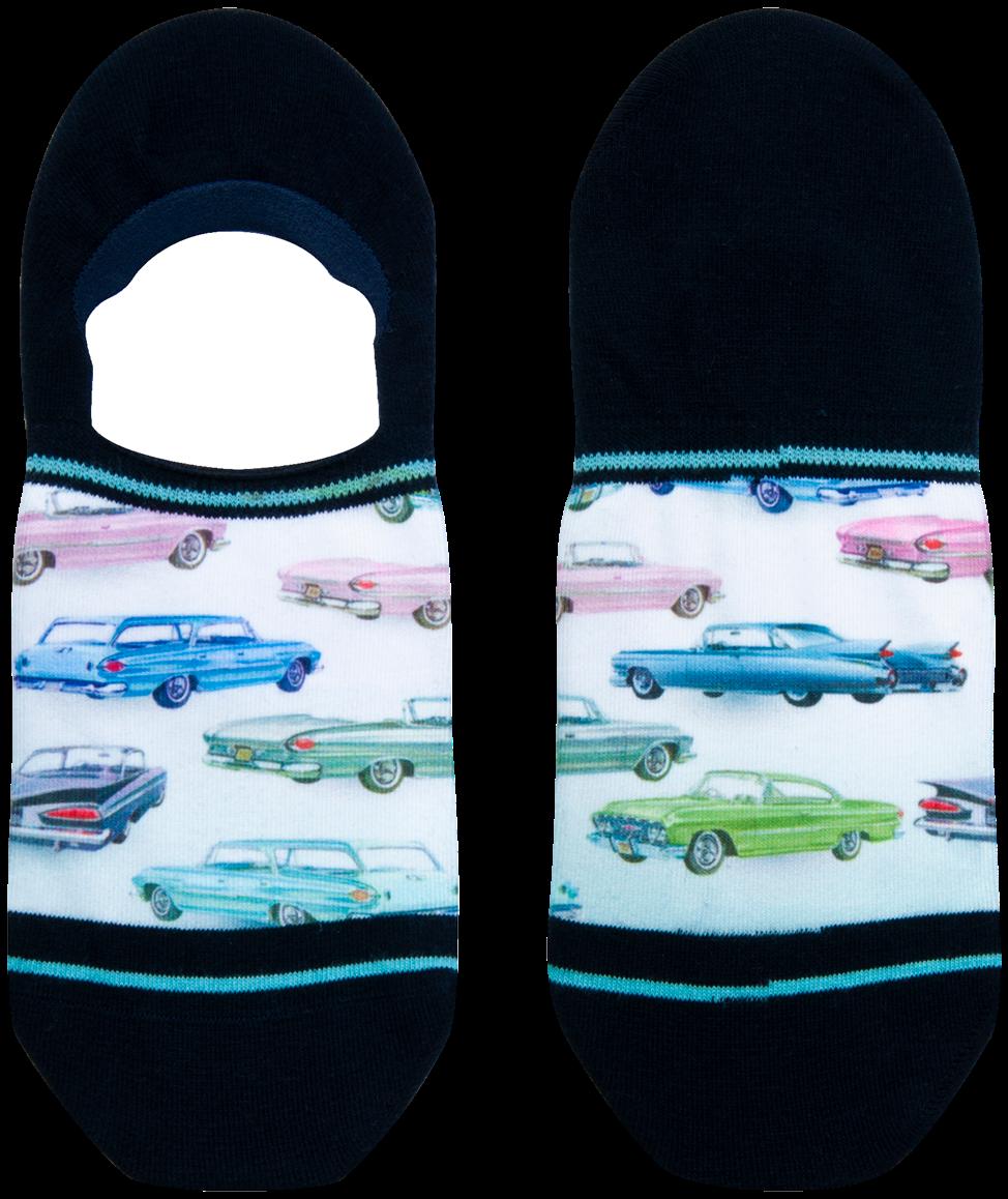Blaue XPOOOS Socken CAR SHOW T8l81