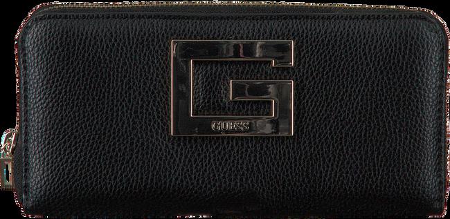 Schwarze GUESS Portemonnaie BRIGHTSIDE LRG ZIP AROUND  - large