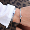 Silberne MY JEWELLERY Armband ROSES PRINT BANGLE BIG - small